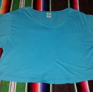 Women's XS Victoria's Secret Pink Blue Crop Top